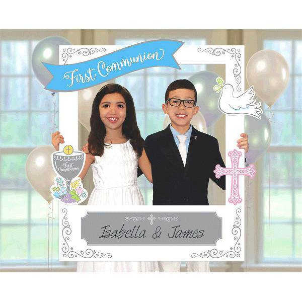 First Communion Giant Selfie Photo Frame