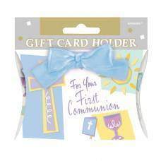 Blue First Communion Gift Card Holder