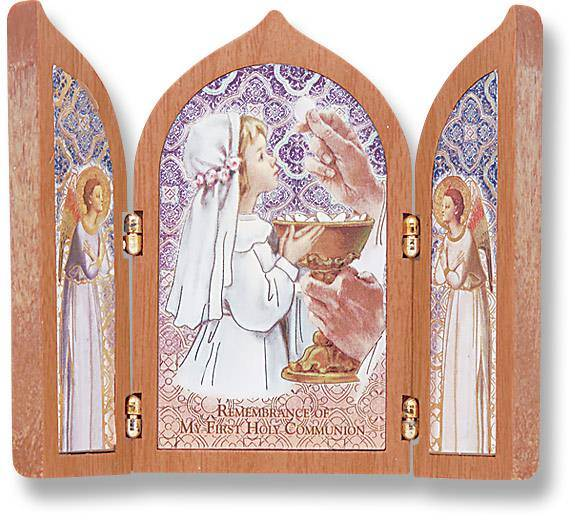 First Communion Girl Triptych