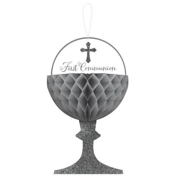 First Communion Honeycomb Chalice Decorations