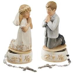 First Communion Keepsake Boxes BOY AND GIRL PRAYING