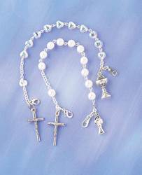 First Communion Pearl Bracelet