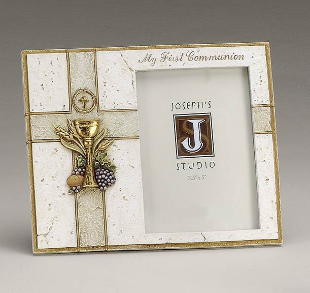 First Communion Picture Frame first communion frame, first communion picture frame, resin frame, first communion gift, holy eucharist gift, boy gift, girl gift,