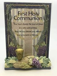First Communion Plaque with Resin Base*WHILE SUPPLIES LAST*