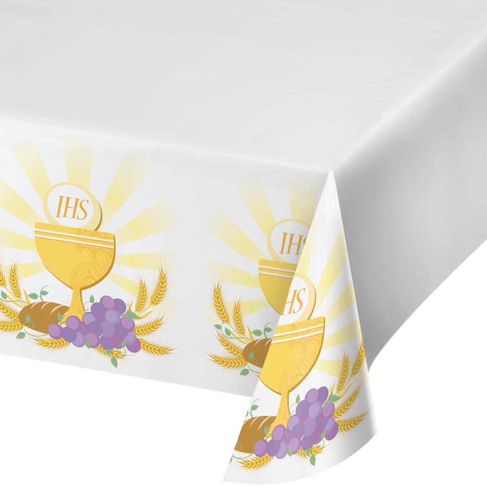 First Communion Plastic Tablecover