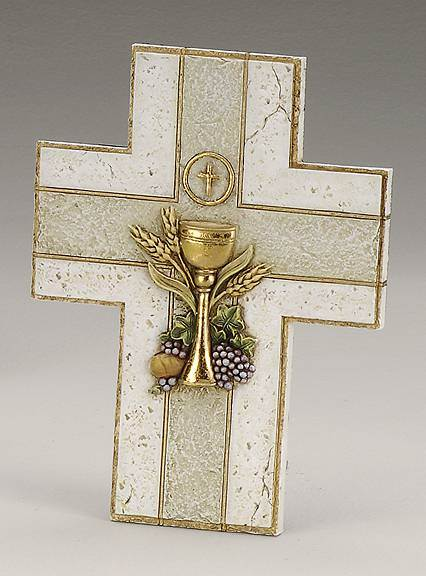 First Communion Resin/Stone Wall Cross