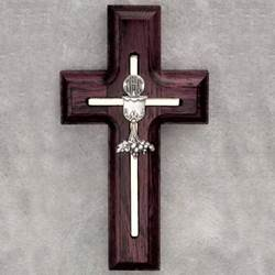 First Communion Rosewood Wall Cross