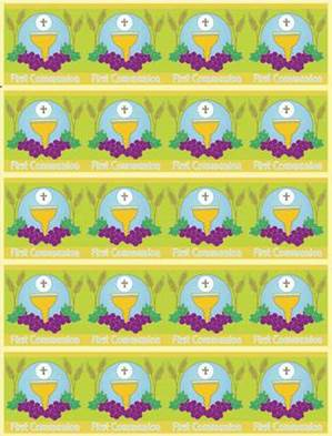 First Communion Sticker Sheets