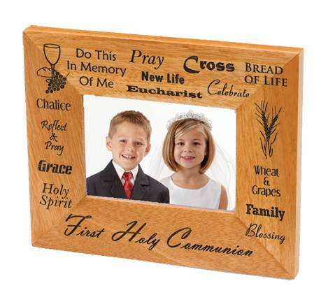 First Communion Wood Picture Frame first communion frame, table frame, sacramental gift, picture frame, holy eurcharist gift,N1945HC
