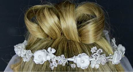 First Communion Wreath Veil