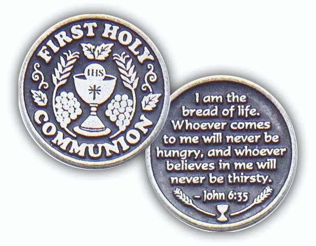 First Holy Communion Cross Pocket Token
