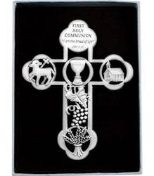 First Holy Communion  Pewter Cross