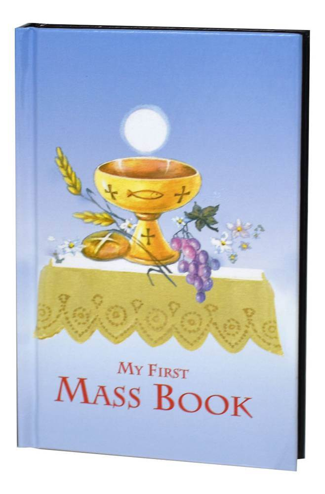 First Mass Book (My First Eucharist) An Easy Way Of Participating At Mass, Blue Cover