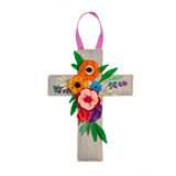 Floral Cross Door Decor