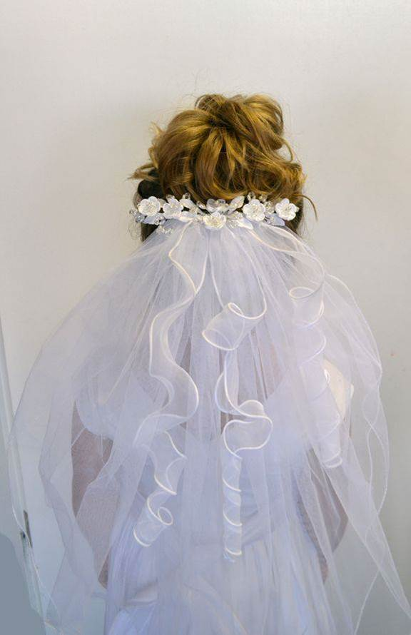 Flower Clip First Communion Veil *WHILE SUPPLIES LAST*