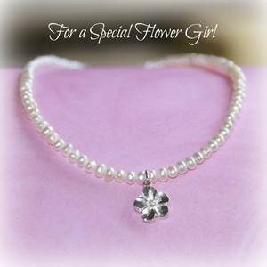 Flower Girl Freshwater Pearl Necklace