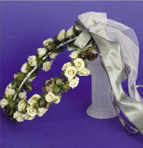 Flower Wreath with Dried Flowers and Leaves for First Communion, Floral Crown for First Communion