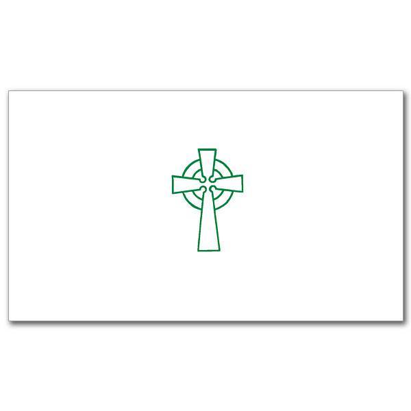 Green Celtic Cross Notecards, Pkg/20