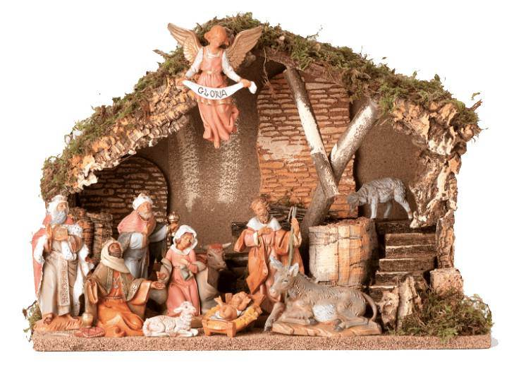 Fontanini 11 Piece Nativity Set with Stable