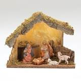 "Fontanini 5"" Scale 5 Figure Nativity Set with Lighted Italian Stable"