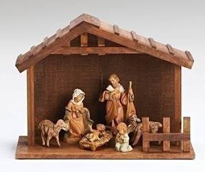 Fontanini Nativity Set With Stable