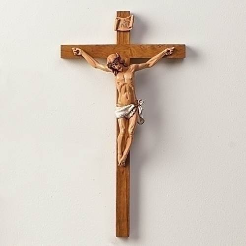 Fontanini Crucifix wall crucifix, wall cross, wedding gift, first communion gift, confirmation gift, sacramental gift, new home gift, church cross, school cross
