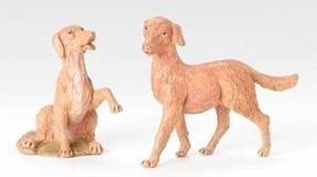 "Fontanini Dog Set for 12"" Nativity Figures"