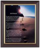 Footprints 8 x 10 Walnut Framed Print