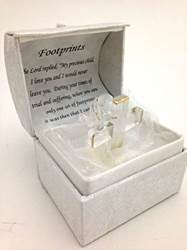 Footprints Cross Box