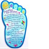 Footprints For Children Wall Plaque