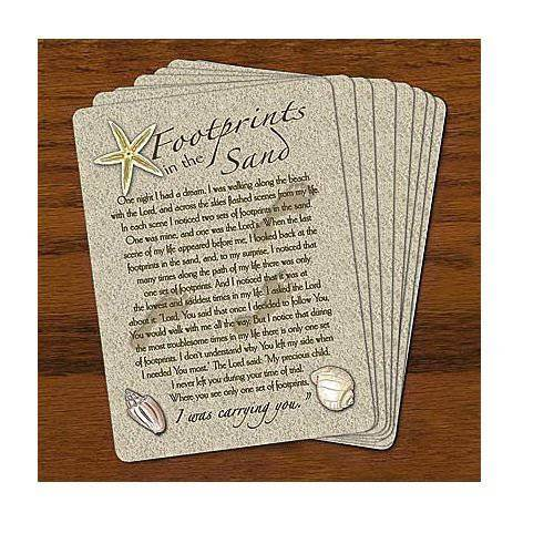 Footprints Prayer Card *WHILE SUPPLIES LAST* footprints prayer, footprints in the sand