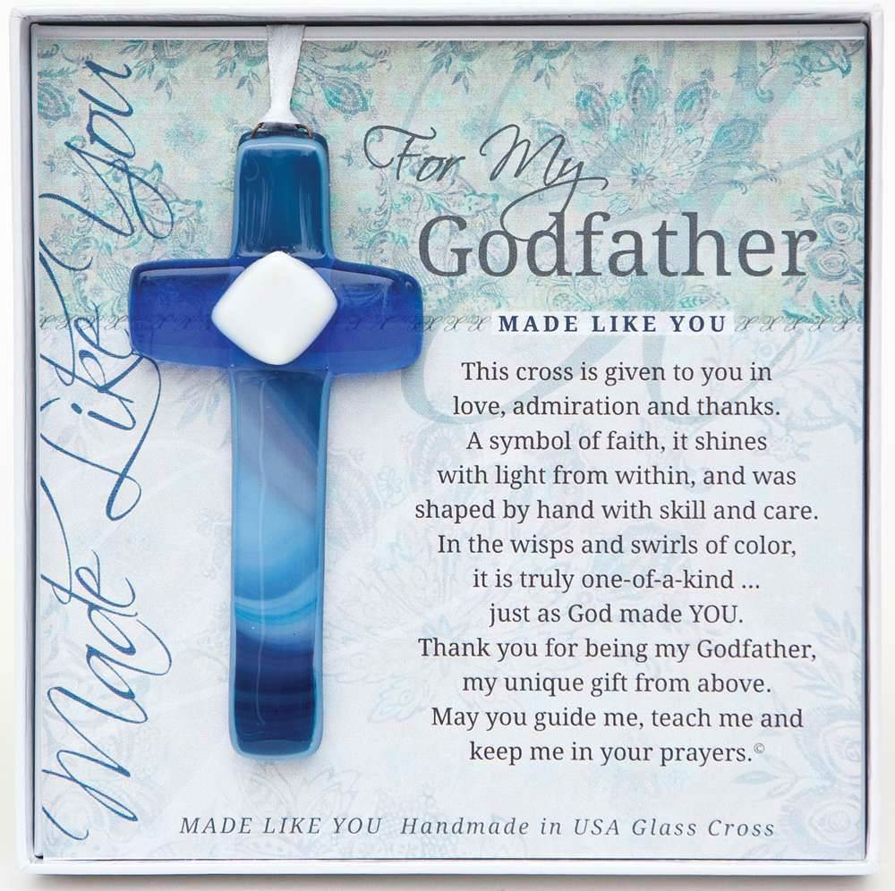 For My Godfather 4 Quot Glass Cross