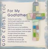"For My Godfather, God Chose You 4"" Handmade Mosaic Cross"