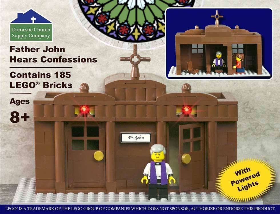 Fr John Hears Confession LEGO Set