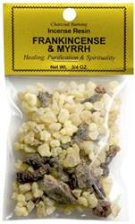Frankincense & Myrrh - Incense Resin - 3/4 OZ.