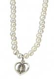 "Freshwater Pearl 4mm Necklace with Extender Sterling Charm 16"" Total"