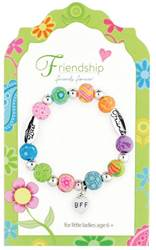 Friendship Colorful Beaded Love Bracelet, Carded
