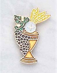 Enameled Chalice Lapel Pin