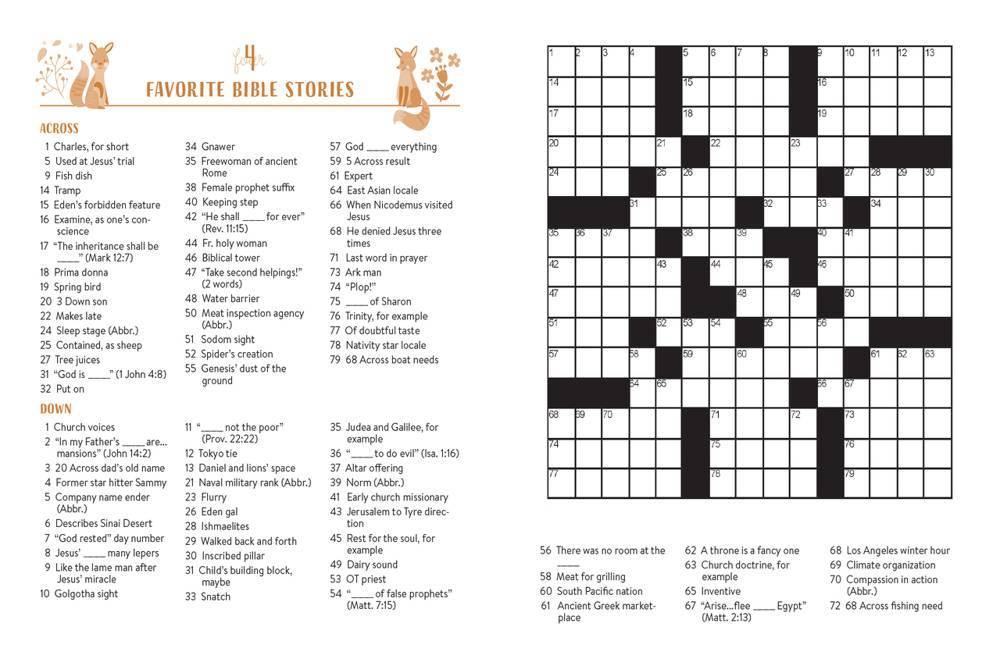 Fun Bible Crosswords 99 Puzzles