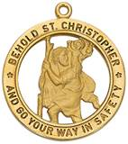 "St. Christopher Gold Medal on 24"" Chain"