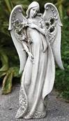 Garden Angel Holding Flower