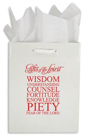 Gifts Of The Spirit Confirmation Gift Bag gift bag, gift wrap, confirmation gift bag, holy spirit, RCIA gift bag,