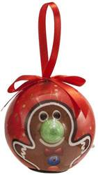 Gingerbread Lighted Nose Ball Ornament