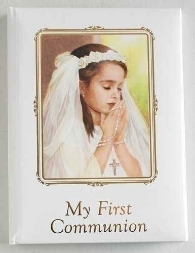 Girls First Communion Photo Album first communion photo album, photo holder, white album, first communion gift, holy eurcharist gift, photos, girl gift, sacramental gift, 65399