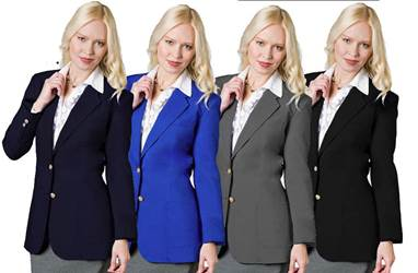 Womens 2 Button Uniform Blazer