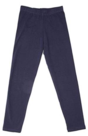 Girls Cotton Leggings, Navy