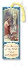 Girls First Communion Laminated Bookmark
