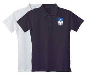 Girls Short Sleeve Pique Polo Shirt with Embroidered QAS Logo