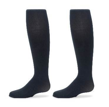 Girls Sueded Navy Tights