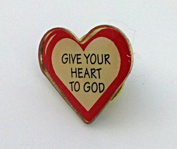 Give Your Heart To God Lapel Pin/25 PK